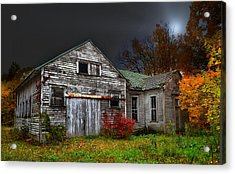 Old School House In Autumn Acrylic Print by Julie Dant