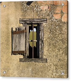 Old Shack Acrylic Print by Bernard Jaubert