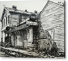 Old Shawneetown Acrylic Print by Michael Lee Summers