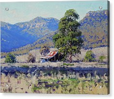 Old Shed Hartley Acrylic Print by Graham Gercken