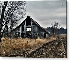 Old Shed Left By Itself Acrylic Print by Laurie With