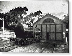 Old Tanker Train Carriage Fine Art Acrylic Print by Jorgo Photography - Wall Art Gallery