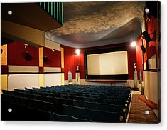 Old Theater Interior 1 Acrylic Print by Marilyn Hunt