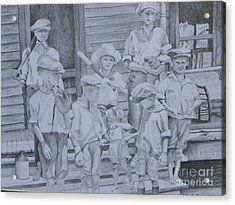 Old Time Baseball Acrylic Print by David Ackerson