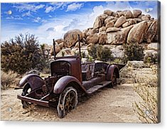 Old Tin Acrylic Print by Wendy White