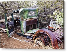 Old Tin_2 Acrylic Print by Wendy White