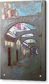Old Town In Rhodes  Greece Acrylic Print by Ylli Haruni
