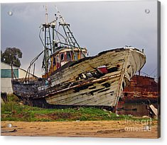 Old Trawler Acrylic Print by Jose Elias - Sofia Pereira