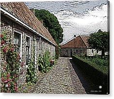 Old Village Acrylic Print by Stefan Kuhn