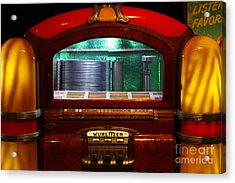 Old Vintage Wurlitzer Jukebox . 7d13100 Acrylic Print by Wingsdomain Art and Photography