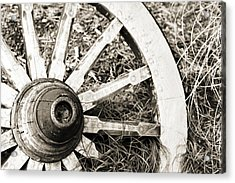 Old Wagon Wheel Acrylic Print by Marilyn Hunt
