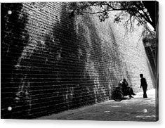 Old Wall Acrylic Print by Lian Wang