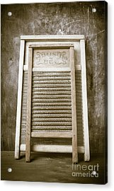 Old Washboards Acrylic Print by Edward Fielding