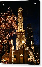 Old Water Tower, Intersection Acrylic Print by Panoramic Images