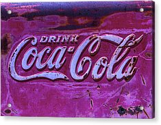 Old Weathered Coke Sign Acrylic Print by Garry Gay