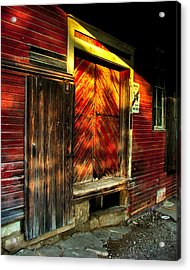 Old Williams Indiana Feed Mill Acrylic Print by Julie Dant