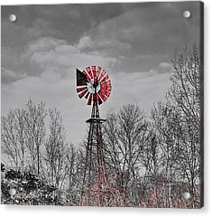 Old Wind Mill Acrylic Print by Robert Pearson