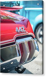 Olds 442 Classic Car Acrylic Print by Mike Reid