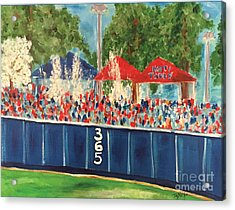 Ole Miss Swayze Beer Showers Acrylic Print by Tay Cossar Morgan