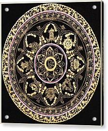 Om Mandala With Astamandala Acrylic Print by Lanjee Chee