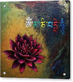 Om Mani Padme Hum Acrylic Print by Stephen Humphries