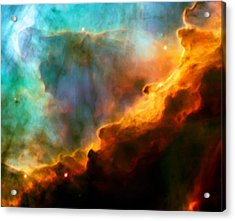 Omega Swan Nebula 3 Acrylic Print by The  Vault - Jennifer Rondinelli Reilly
