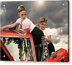 Omg - She Really Didn't Do That Acrylic Print by Jeff Burgess
