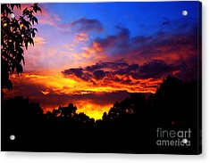 Ominous Sunset Acrylic Print by Clayton Bruster