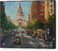 On Congress Acrylic Print by Lisa  Spencer