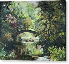 On The Bridge Acrylic Print by Tigran Ghulyan