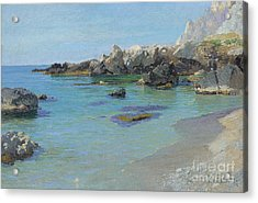 On The Capri Coast Acrylic Print by Paul von Spaun