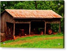 On The Farm Acrylic Print by Chris Flees
