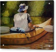 On The Kickapoo Acrylic Print by Marcia  Hero