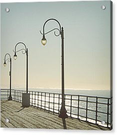 On The Pier Acrylic Print by Linda Woods
