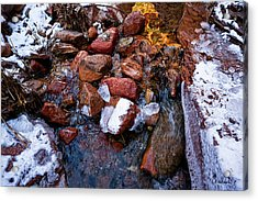 On The Rocks Acrylic Print by Christopher Holmes