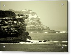 On The Rugged Cliffs Acrylic Print by Holly Kempe