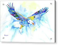 On The Wings Of An Eagle Acrylic Print by Jo Lynch