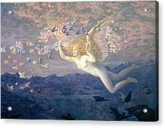 On The Wings Of The Morning Acrylic Print by Edward Robert Hughes