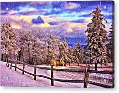 On Top Of Old Blue Knob Acrylic Print by Lois Bryan