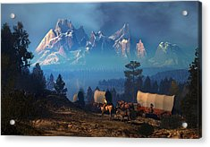 Once But Long Ago Acrylic Print by Dieter Carlton