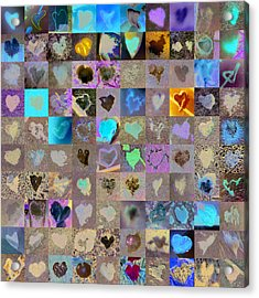 One Hundred And One Hearts Acrylic Print by Boy Sees Hearts