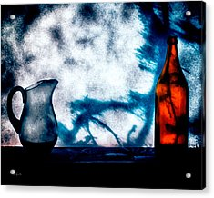 One Red Bottle Acrylic Print by Bob Orsillo