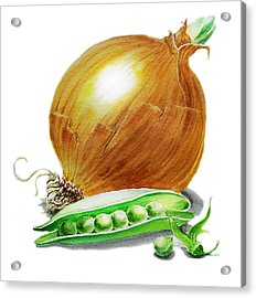 Onion And Peas Acrylic Print by Irina Sztukowski