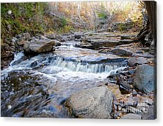 Onion River Lower Falls Acrylic Print by Sandra Updyke