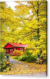 Ontario Autumn - Paint Acrylic Print by Steve Harrington