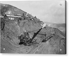 Open Pit United Verde Mine On Mountain Acrylic Print by Everett