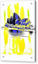 Operatic Strokes Acrylic Print by Az Jackson