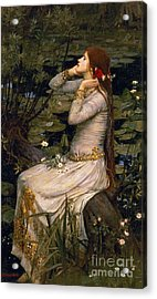 Ophelia Acrylic Print by John William Waterhouse