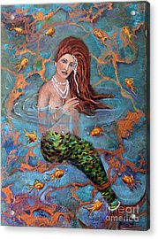 Ophelia Acrylic Print by Linda Queally