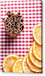 Orange And Cinnamon Acrylic Print by Nailia Schwarz